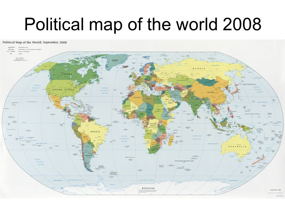 Political map of the world 2008