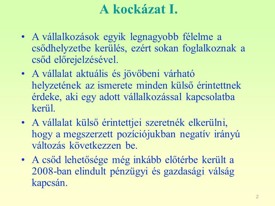 3 Kockázat II.