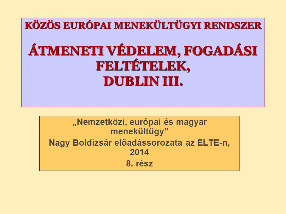 "Ad A) Exercising discretion – still within the Dublin system (""becoming responsible ) – part of CEAS – applying EU law – Charter is applicable (51 (1))."
