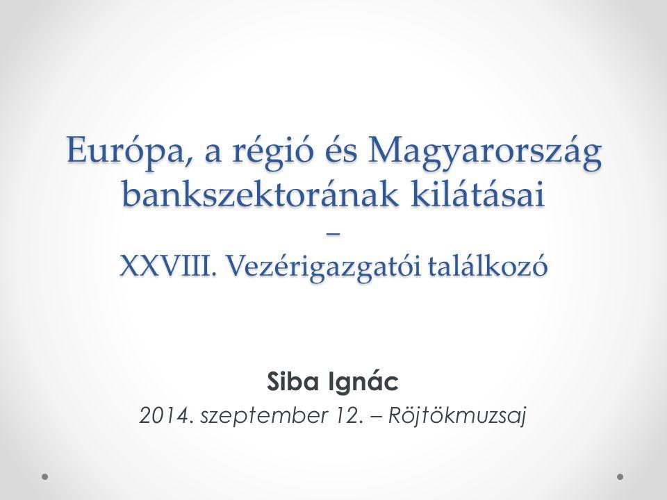 Európa, a régió és Magyarország bankszektorának kilátásai – XXVIII.