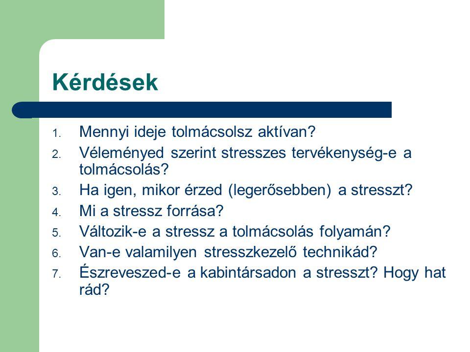 6.Van-e valamilyen saját stressz- kezelő technikád.