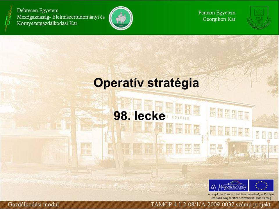 Operatív stratégia 98. lecke