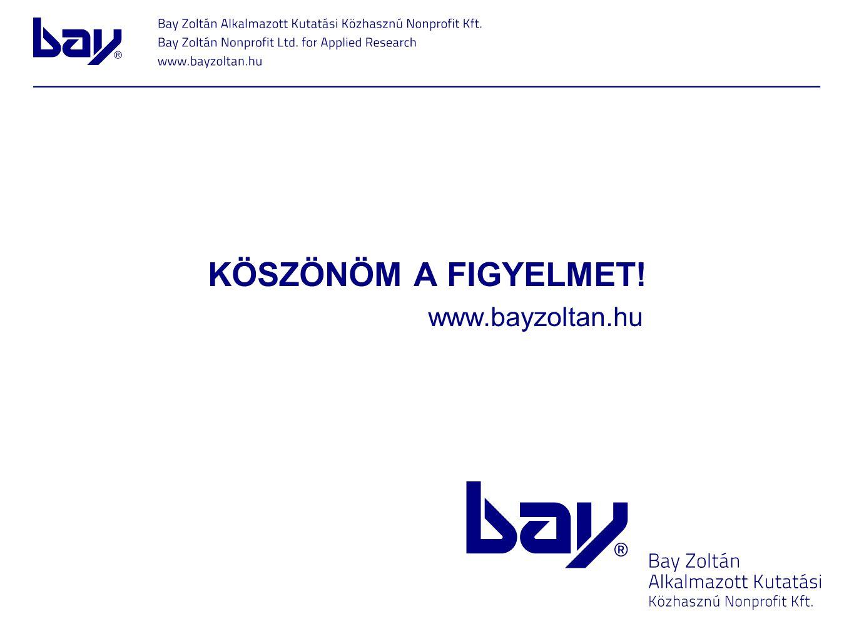 KÖSZÖNÖM A FIGYELMET! www.bayzoltan.hu