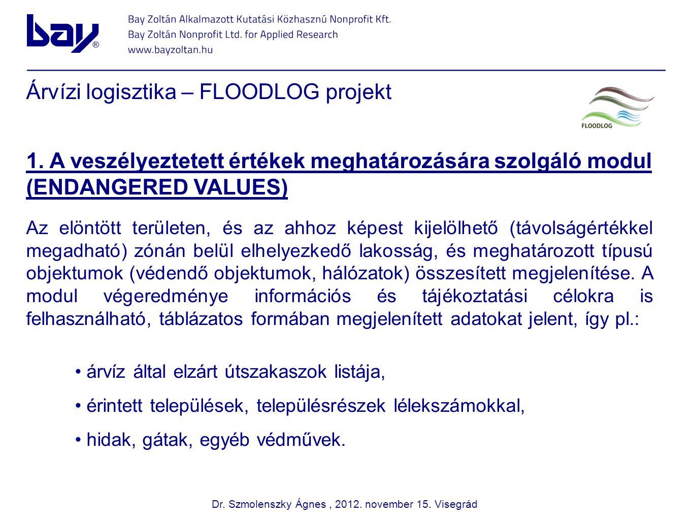 Árvízi logisztika – FLOODLOG projekt 1.