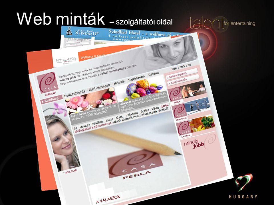 Web minták – szolgáltatói oldal