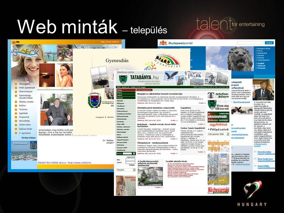Web minták – település