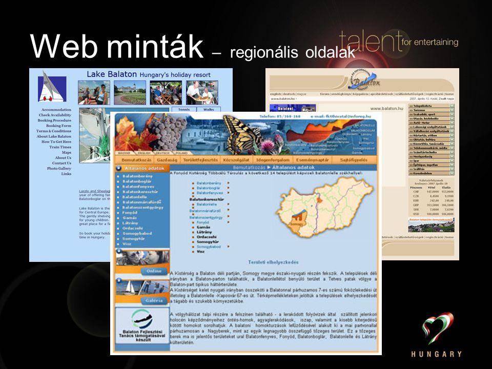 Web minták – regionális oldalak