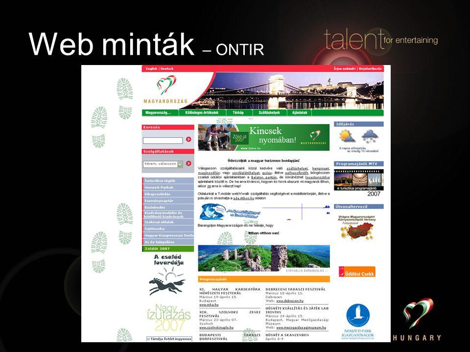 Web minták – ONTIR
