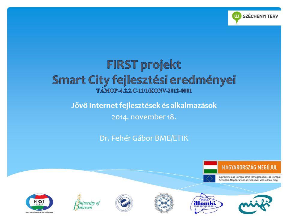 Jövő Internet fejlesztések és alkalmazások 2014. november 18. Dr. Fehér Gábor BME/ETIK