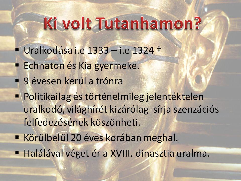  Uralkodása i.e 1333 – i.e 1324 †  Echnaton és Kia gyermeke.