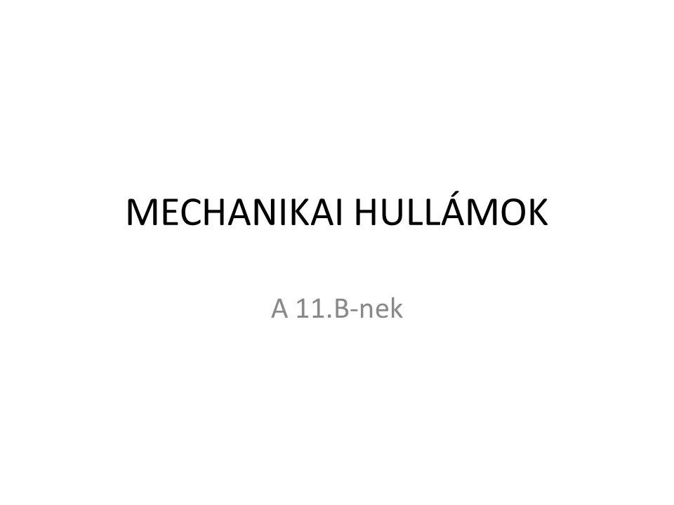 MECHANIKAI HULLÁMOK A 11.B-nek