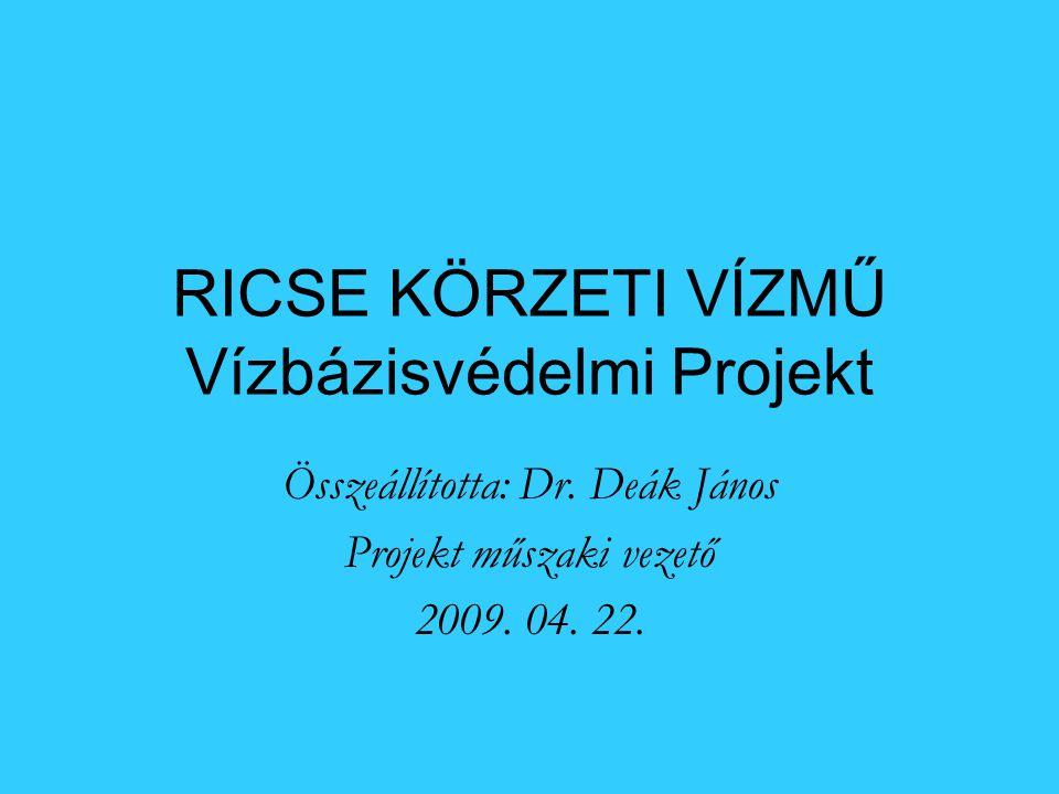 RICSE KÖRZETI VÍZMŰ Vízbázisvédelmi Projekt Összeállította: Dr.