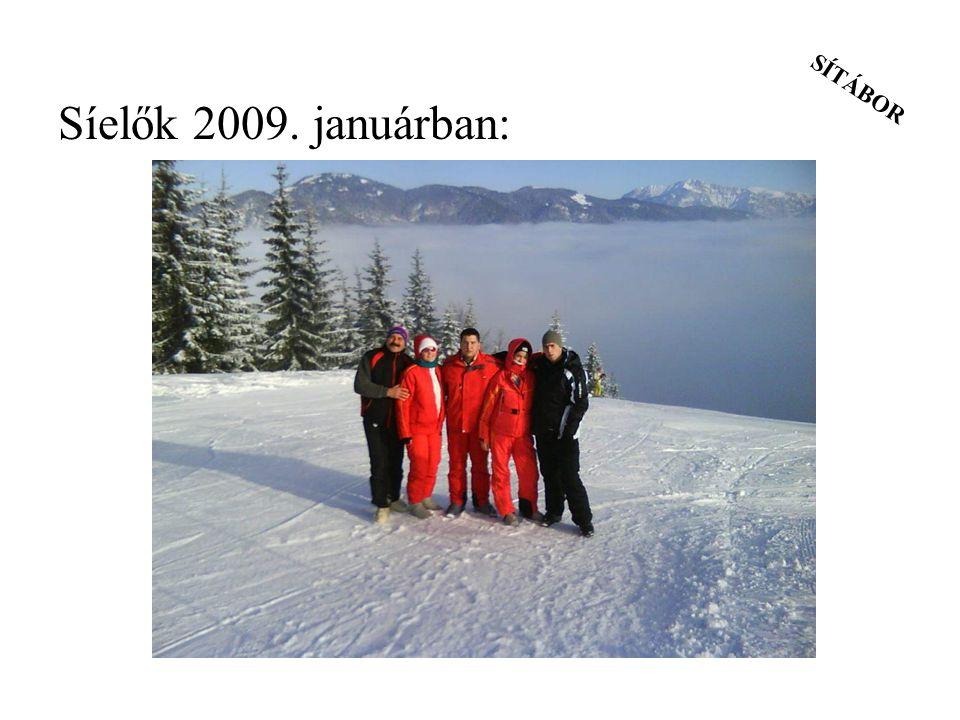 SÍTÁBOR Síelők 2009. januárban:
