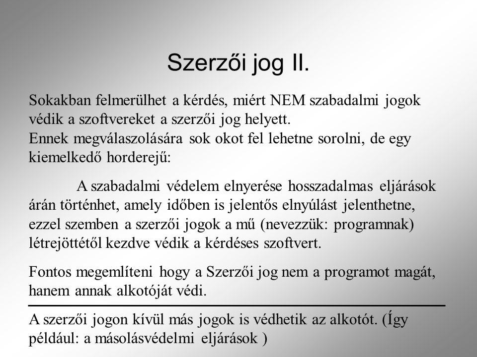 Szerzői jog II.