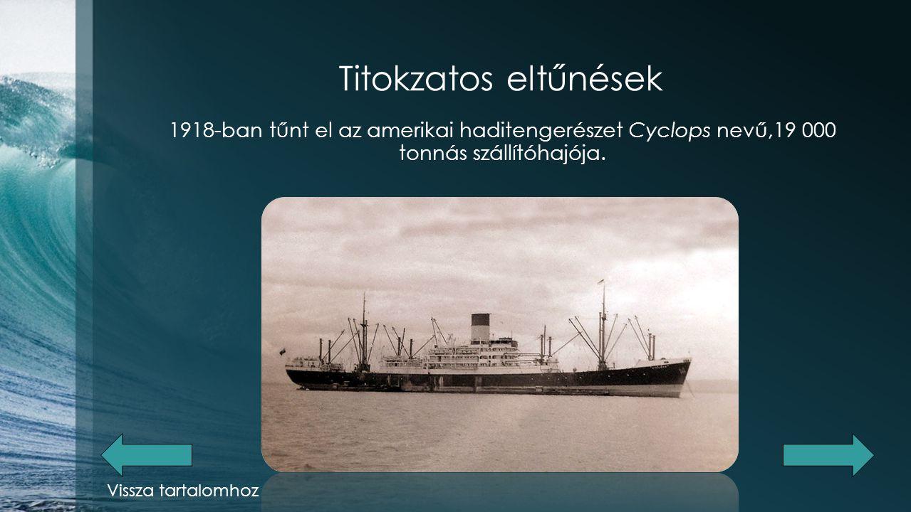 Titokzatos eltűnések A Mary Celeste és a Dei Gratia nevű hajók együttes esete. Vissza tartalomhoz
