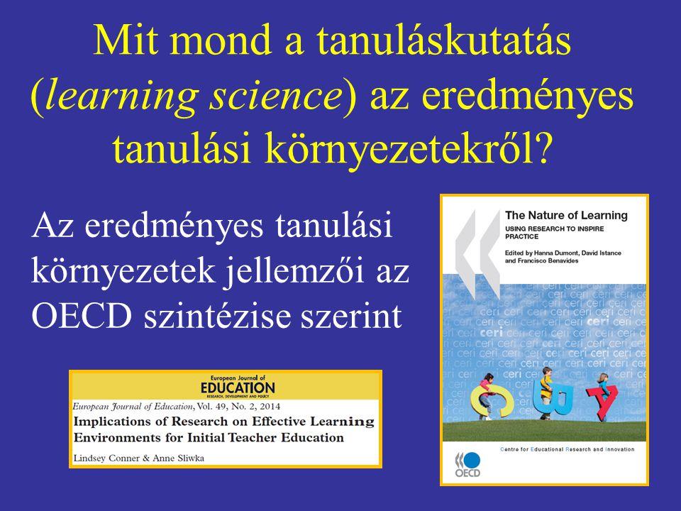 Mit mond a tanuláskutatás (learning science) az eredményes tanulási környezetekről.