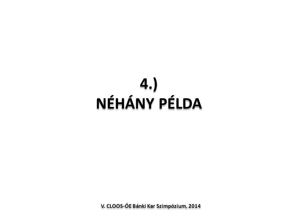 4.) NÉHÁNY PÉLDA V. CLOOS-ÓE Bánki Kar Szimpózium, 2014