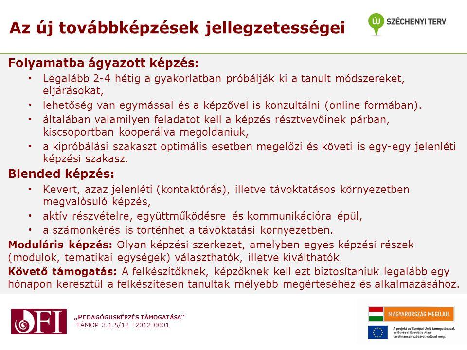 """""""P EDAGÓGUSKÉPZÉS TÁMOGATÁSA TÁMOP-3.1.5/12 -2012-0001 Az e-portfolió felület felépítése - véglegesítés"""