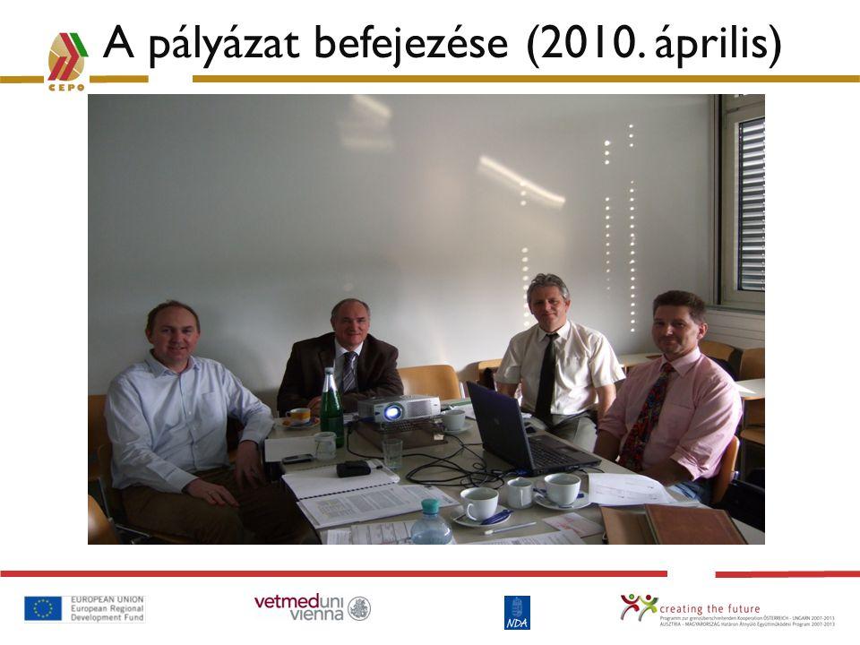 A pályázat befejezése (2010. április)