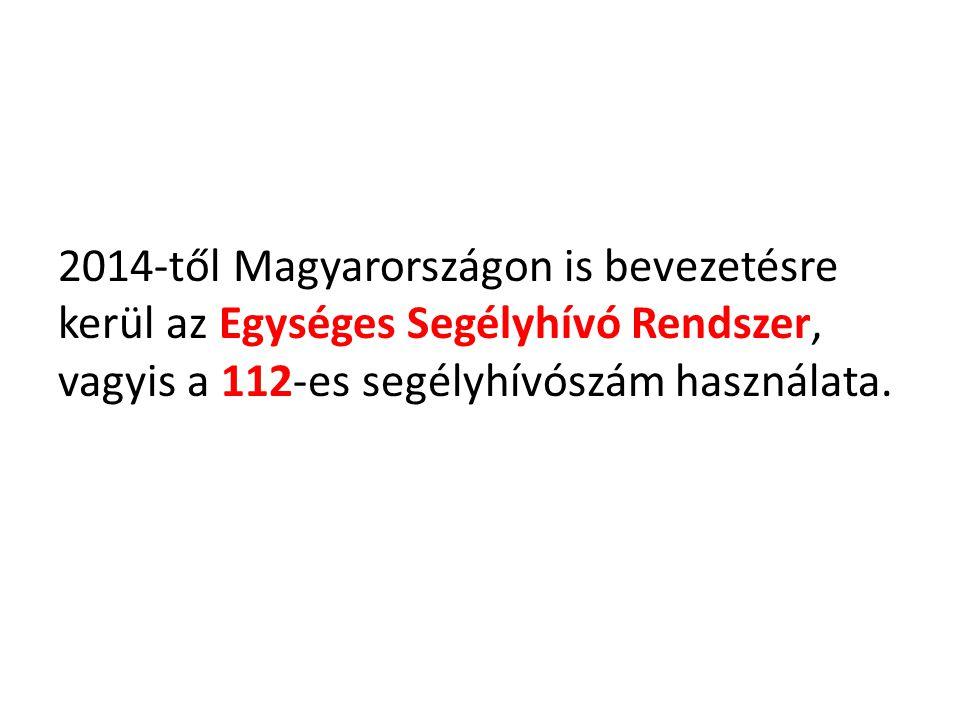 2014-től Magyarországon is bevezetésre kerül az Egységes Segélyhívó Rendszer, vagyis a 112-es segélyhívószám használata.