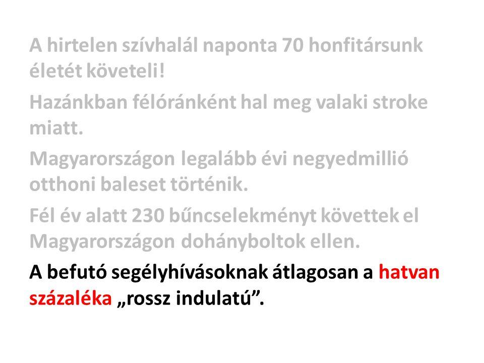 A hirtelen szívhalál naponta 70 honfitársunk életét követeli! Hazánkban félóránként hal meg valaki stroke miatt. Magyarországon legalább évi negyedmil