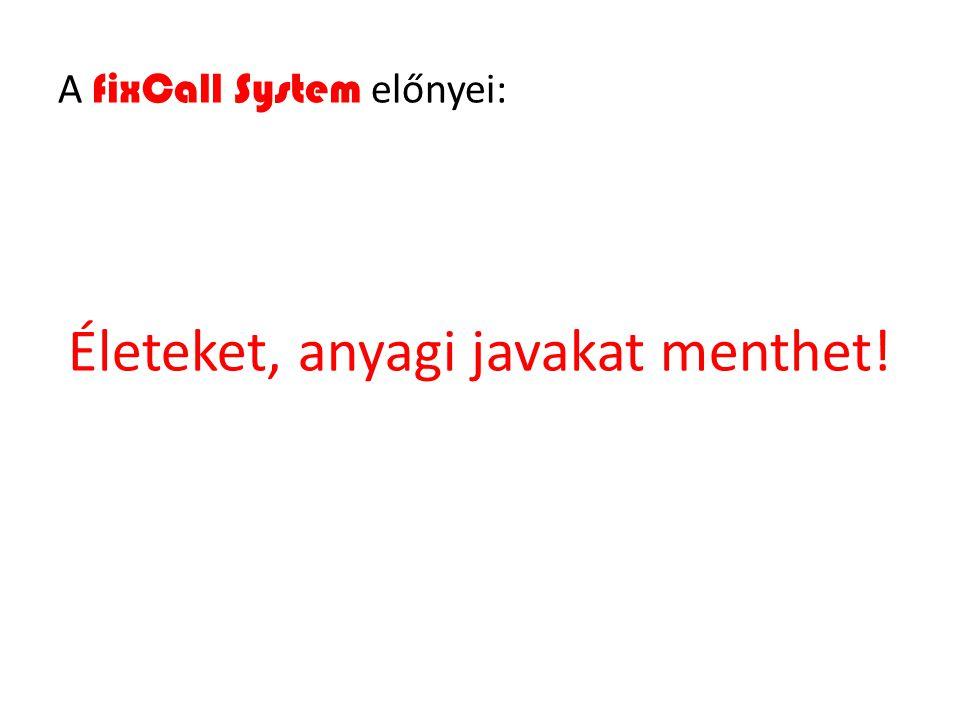 A fixCall System előnyei: Életeket, anyagi javakat menthet!