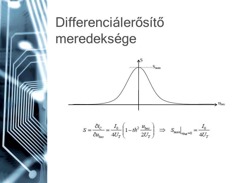 Differenciálerősítő meredeksége
