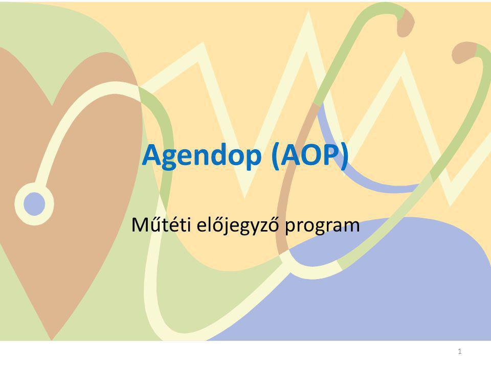 Agendop (AOP) Műtéti előjegyző program 1