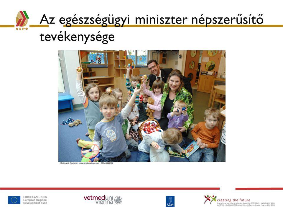 Az egészségügyi miniszter népszerűsítő tevékenysége