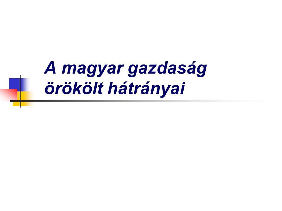 A magyar gazdaság örökölt hátrányai