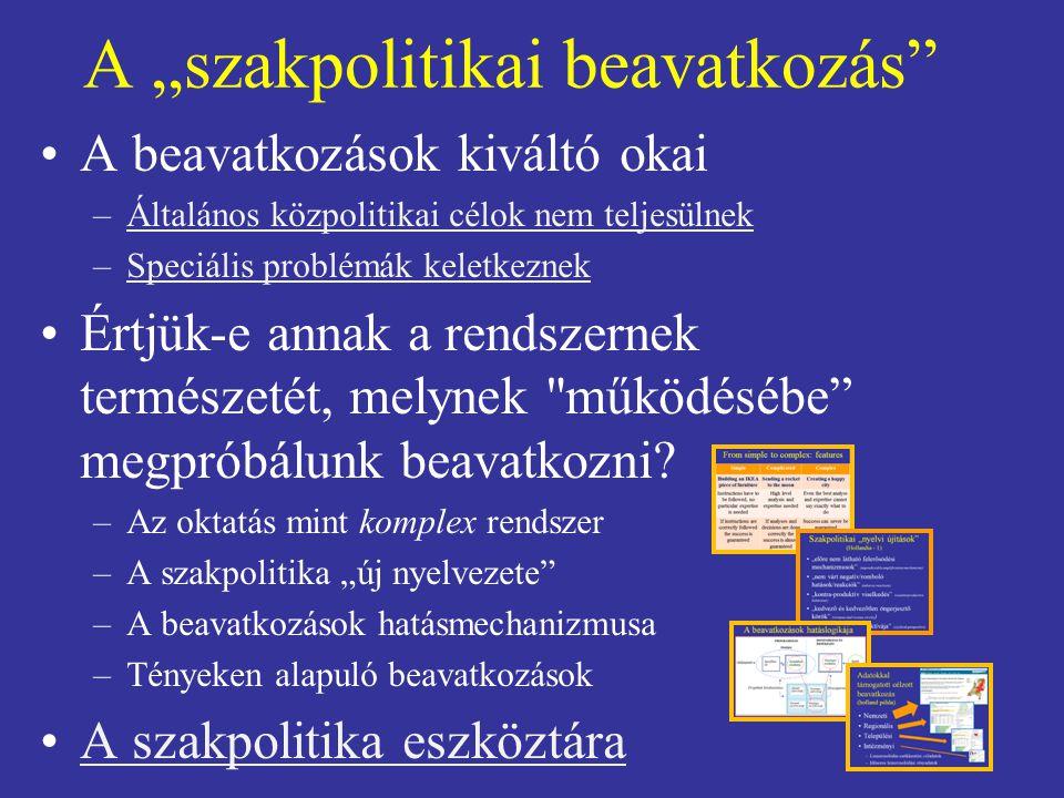 """A """"szakpolitikai beavatkozás"""" A beavatkozások kiváltó okai –Általános közpolitikai célok nem teljesülnekÁltalános közpolitikai célok nem teljesülnek –"""