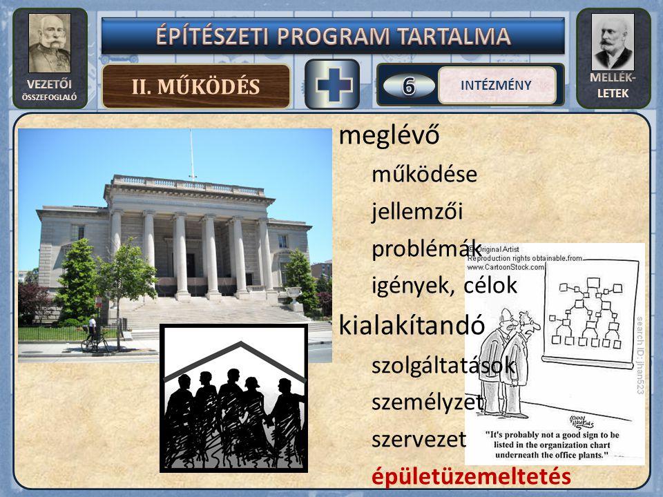 VEZETŐI ÖSSZEFOGLALÓ MELLÉK- LETEK II.