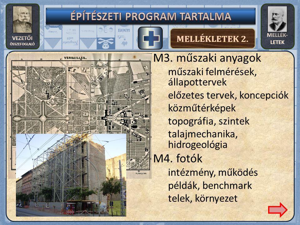 VEZETŐI ÖSSZEFOGLALÓ MELLÉK- LETEK MELLÉKLETEK 2. M3.