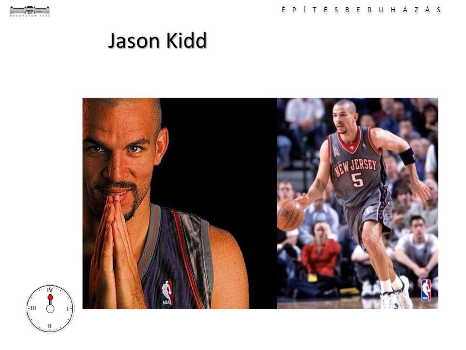 É P Í T É S B E R U H Á Z Á S I II III IV Jason Kidd