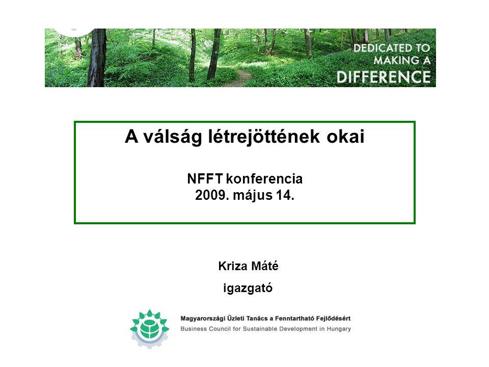 DEDICATED TO MAKING A DIFFERENCE A válság létrejöttének okai NFFT konferencia 2009. május 14. Kriza Máté igazgató