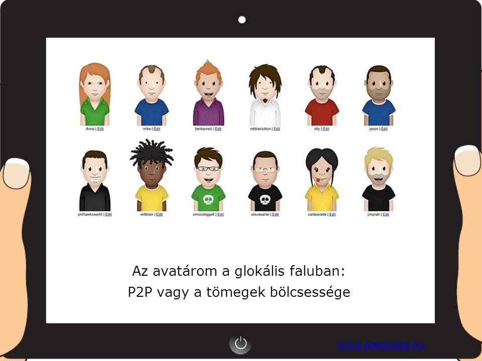 www.baracskai.hu Az avatárom a glokális faluban: P2P vagy a tömegek bölcsessége