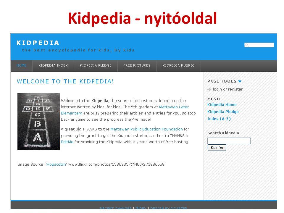 Kidpedia - nyitóoldal