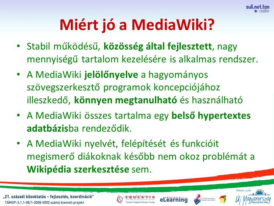 Miért jó a MediaWiki.