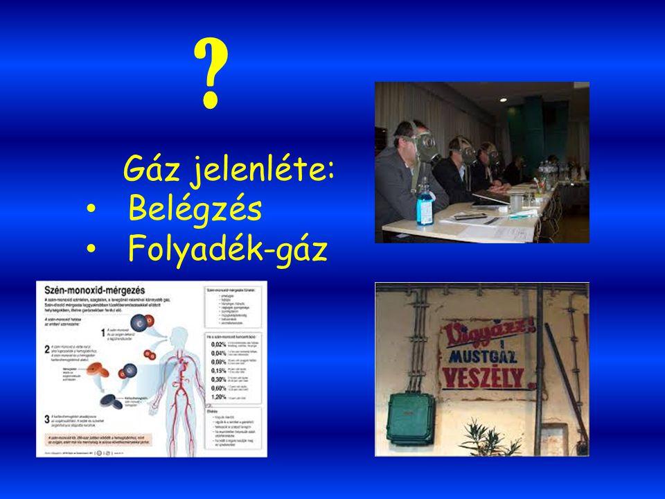 ? Gáz jelenléte: Belégzés Folyadék-gáz
