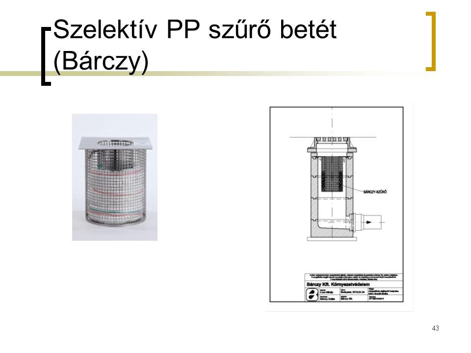 Szelektív PP szűrő betét (Bárczy) 43