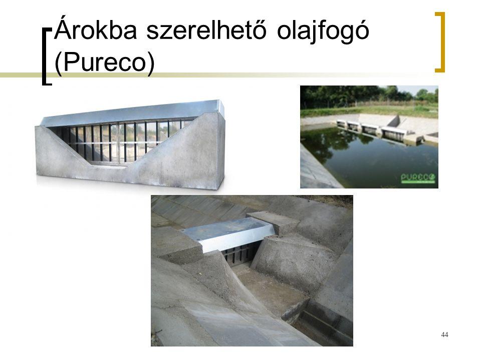 Árokba szerelhető olajfogó (Pureco) 44