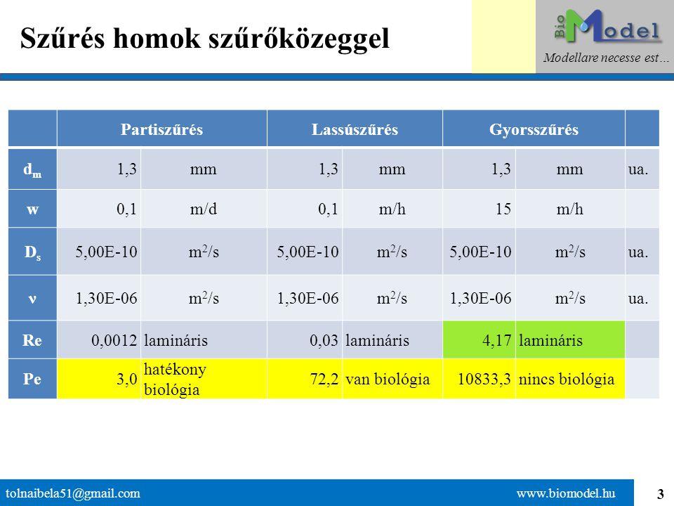 3 Szűrés homok szűrőközeggel tolnaibela51@gmail.com www.biomodel.hu Modellare necesse est… PartiszűrésLassúszűrésGyorsszűrés dmdm 1,3mm1,3mm1,3mmua.