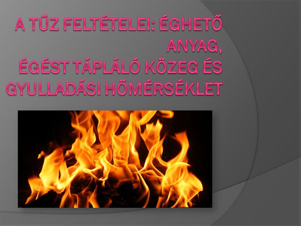 A tűz kémiai jelenség, éghető anyag fény- és hőhatással járó oxidációja.