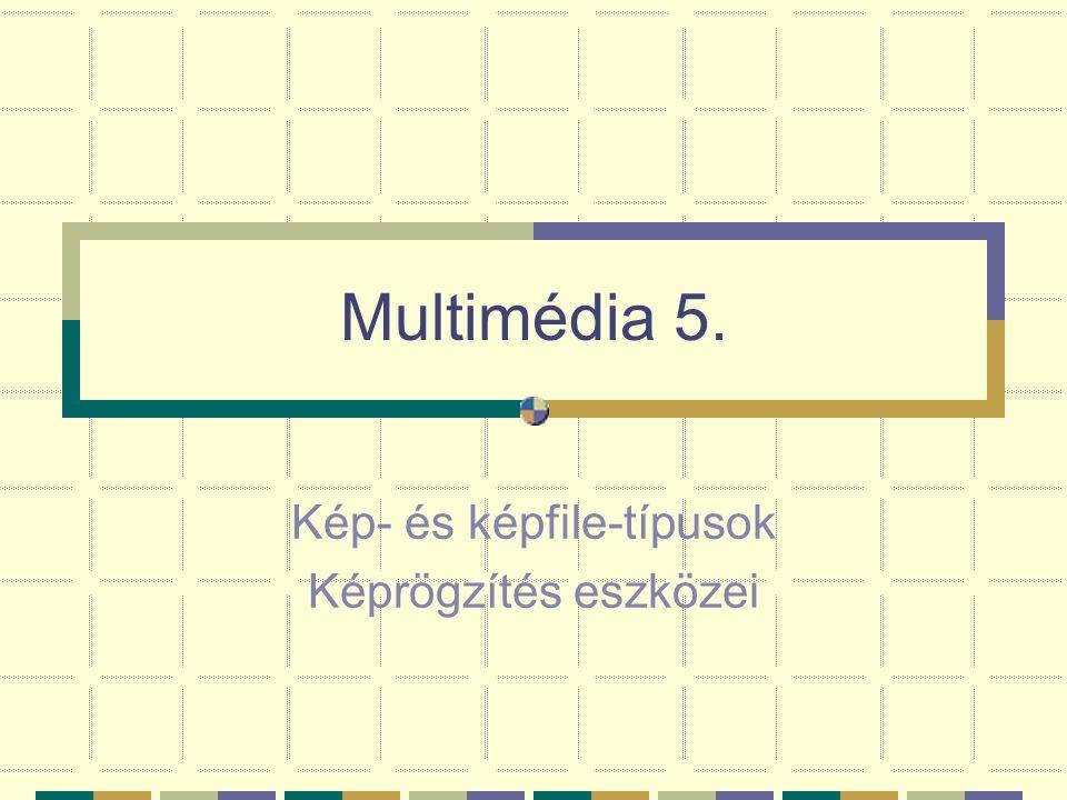 Multimédia 5. Kép- és képfile-típusok Képrögzítés eszközei