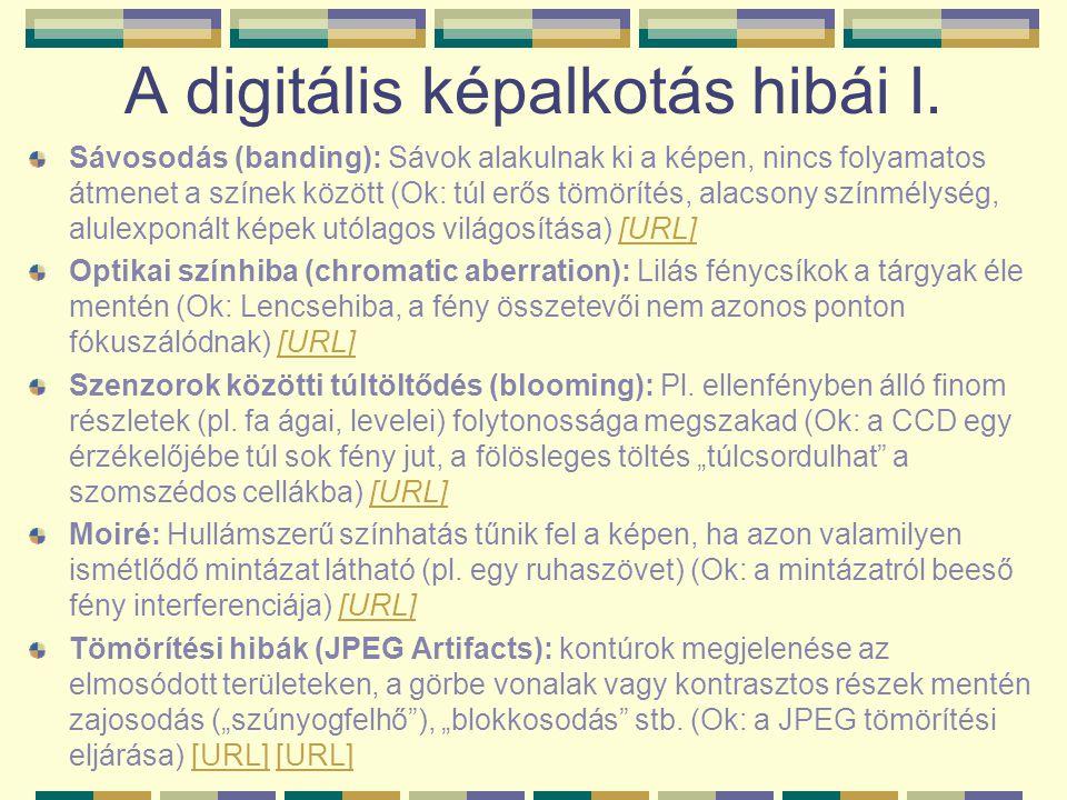 A digitális képalkotás hibái II.