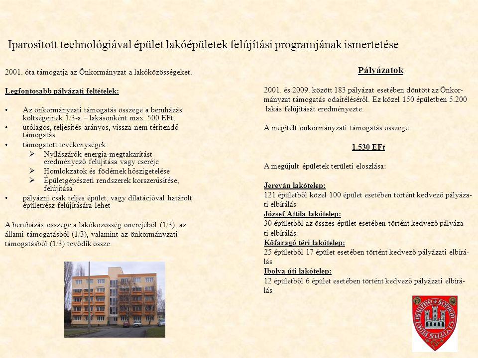 Iparosított technológiával épület lakóépületek felújítási programjának ismertetése 2001.
