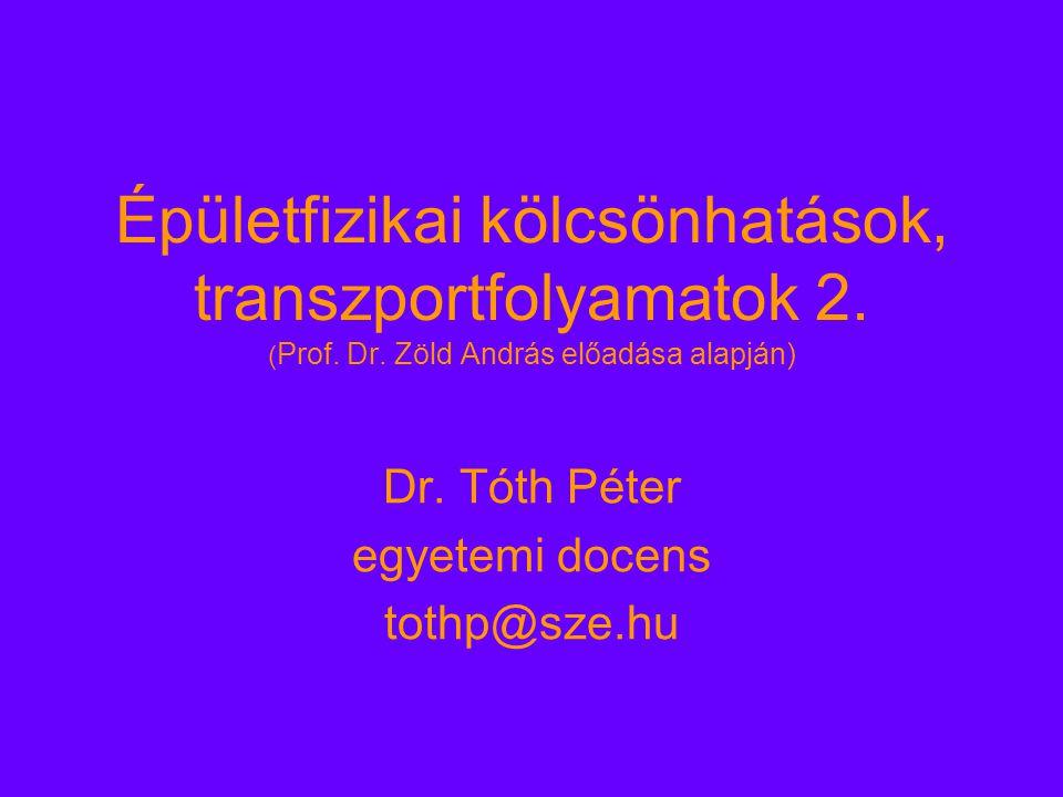 Épületfizikai kölcsönhatások, transzportfolyamatok 2.
