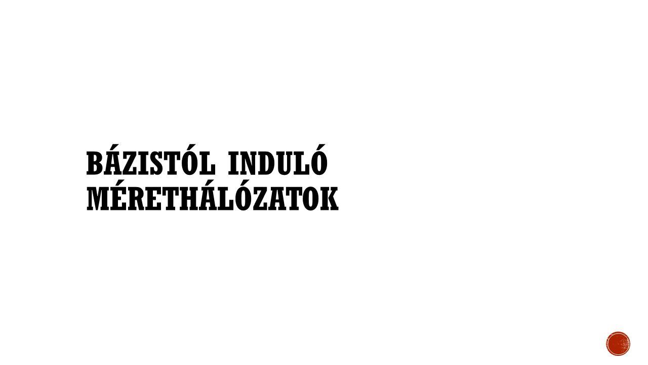 BÁZISTÓL INDULÓ MÉRETHÁLÓZATOK