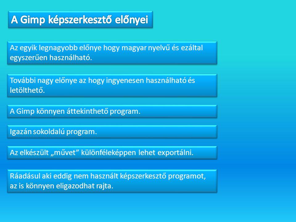 Az egyik legnagyobb előnye hogy magyar nyelvű és ezáltal egyszerűen használható.