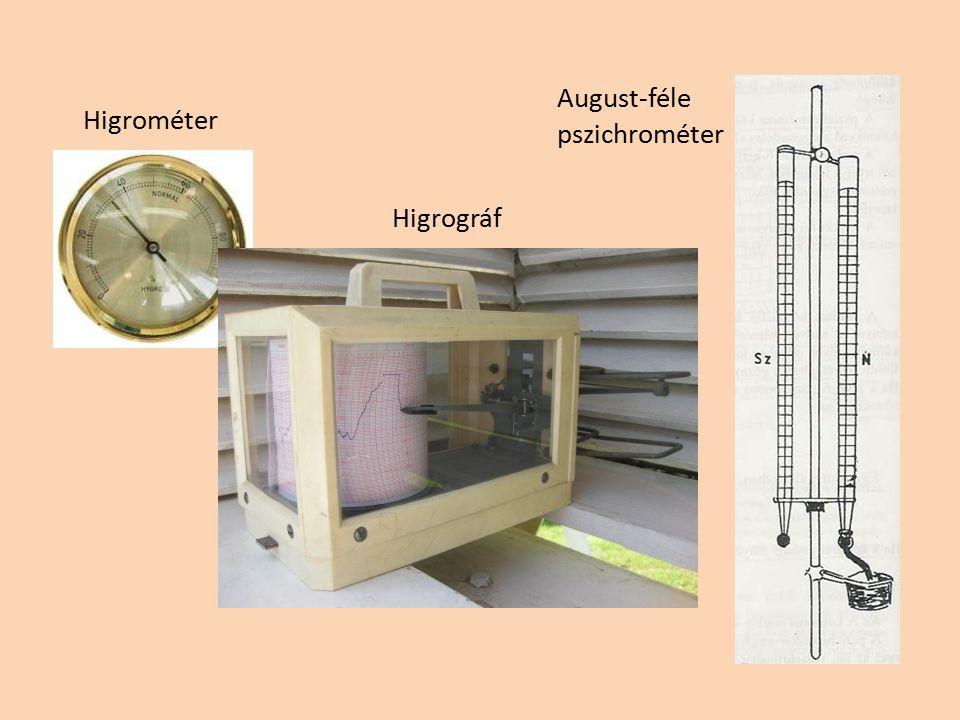 Higrométer Higrográf August-féle pszichrométer